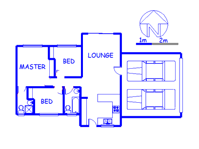 Floor plan of the property in Allen's Nek