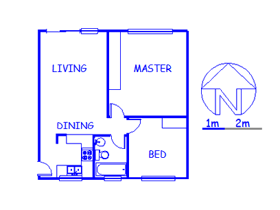 Floor plan of the property in Wilgeheuwel