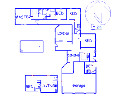 Floor plan of the property in Edenburg - Jhb