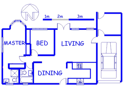 Floor plan of the property in Goedemoed