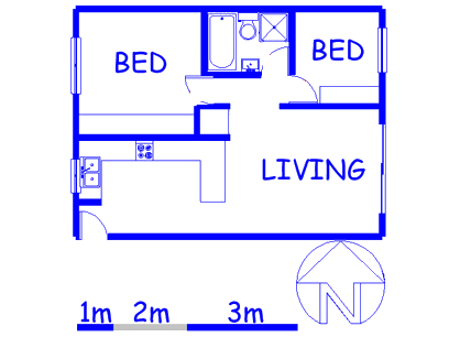 Floor plan of the property in Durbanville