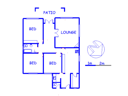 Floor plan of the property in Bertrams