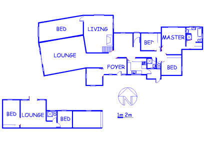 Floor plan of the property in Sunningdale Ridge