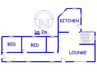 Floor plan of the property in Vaal Oewer