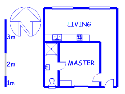 Floor plan of the property in Somerset West