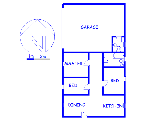 Floor plan of the property in White River