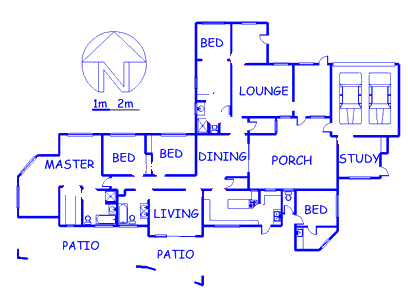 Floor plan of the property in Randpark