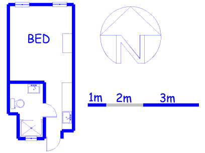 Floor plan of the property in Menlyn