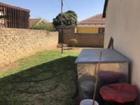 Backyard of property in Mabopane