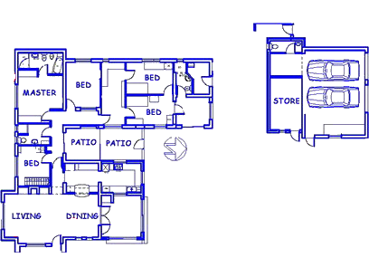 Floor plan of the property in Summerstrand