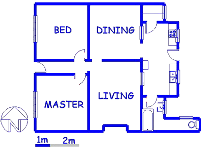 Floor plan of the property in Germiston