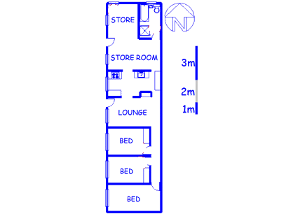 Floor plan of the property in Beroma
