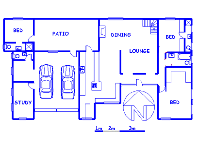 Floor plan of the property in Paarl