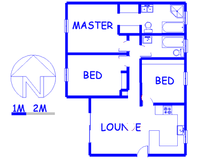 Floor plan of the property in Barbeque Downs