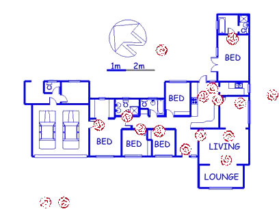 Floor plan of the property in Malanshof