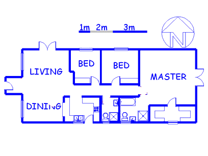 Floor plan of the property in Edgemead