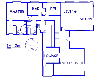 Floor plan of the property in Meredale