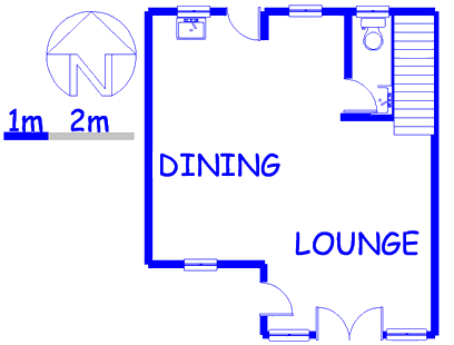 Floor plan of the property in Alveda