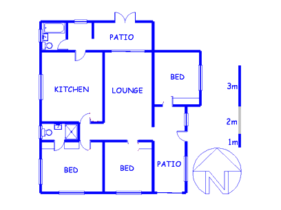 Floor plan of the property in Brandfort