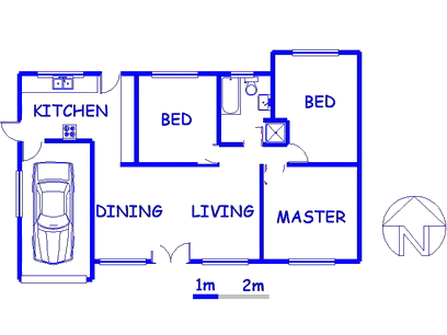 Floor plan of the property in Birchleigh North