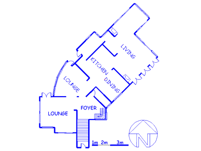 Floor plan of the property in Oude Westhof