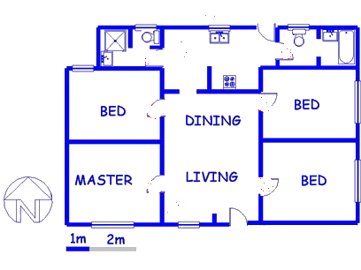 Floor plan of the property in Newclare